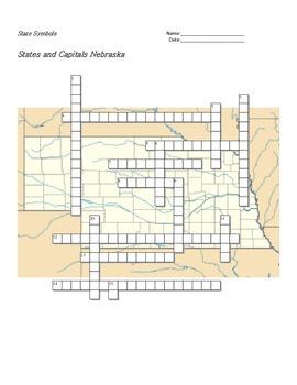 States and Capitals - Nebraska State Symbols Crossword Puzzle