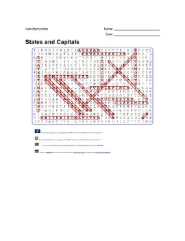 States and Capitals - New Hampshire State Symbols Wordsearch Puzzle