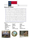 States and Capitals - North Carolina State Symbols Wordsearch Puzzle
