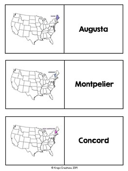 States and Capitals Northeast Region Flashcards