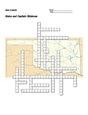 States and Capitals - Oklahoma State Symbols Crossword Puzzle