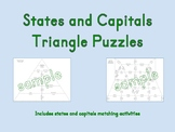 States and Capitals Puzzles