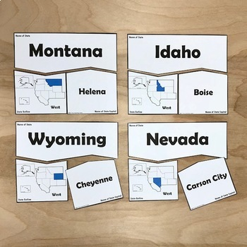 States and Capitals Puzzles: All Regions Bundle