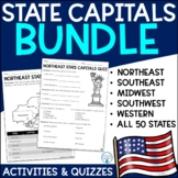 50 State Capitals Assessment Bundle
