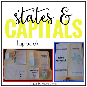 States and Capitals Research Lapbook ( Grades 3 - 6 )