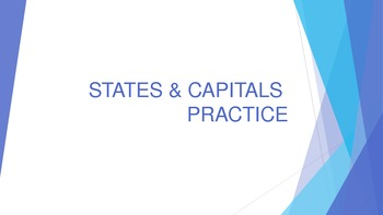 States and Capitals Review Game