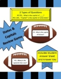 States and Capitals Review Game - Football Themed - 100 qu