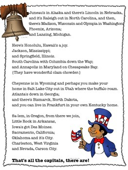 States And Capitals Song
