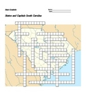States and Capitals - South Carolina State Symbols Crossword Puzzle