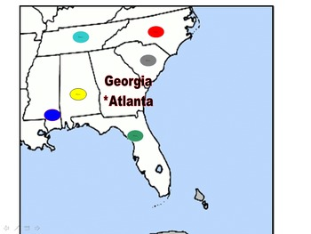 States and Capitals Southeast 10