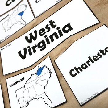 States and Capitals: Southeast Puzzles