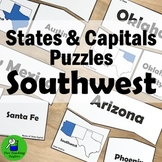 States and Capitals Activity: Southwest Puzzles