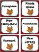 States and Capitals Task Cards Bundle {Four Regions of the United States}