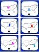 States and Capitals Task Cards Bundle {Four Regions of the