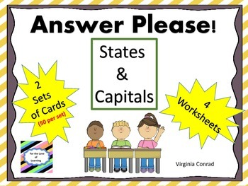 States and Capitals:  Task Cards and More