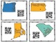 States and Capitals Task Cards with QR Codes
