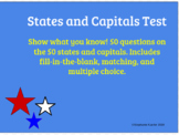 States and Capitals Test