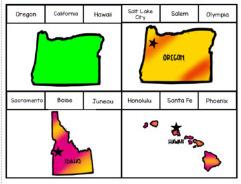 States and Capitals: Western Region