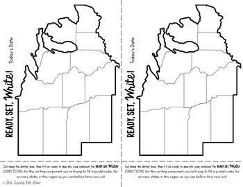 States and Capitals of the Midwest {Review, Shuffle, Repeat Flash Card Set}
