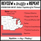 States and Capitals of the Midwest {Review, Shuffle, Repea