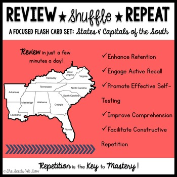 States and Capitals of the South {Review, Shuffle, Repeat