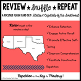 States and Capitals of the Southwest {Review, Shuffle, Rep