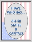States and Capitals_I Have, Who Has...