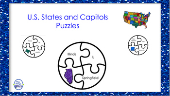 States and Capitols Puzzles