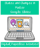 States and Changes in Matter Google Slides Distance Learning