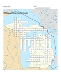 States and Capitals - Michigan State Symbols Crossword Puzzle