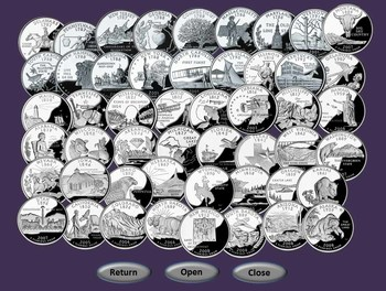 States and Quarters Jeopardy-Style Games by KlickerZ