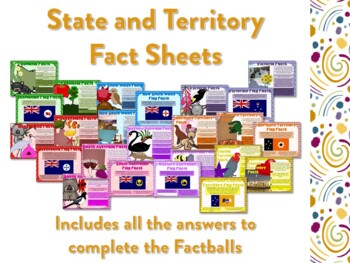 States and Territories of Australia Factballs and Information Sheets