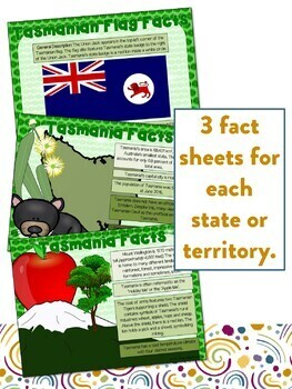 States and Territories of Australia Flipbooks and Information Sheets