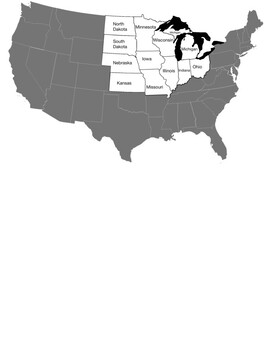 States in the Midwest United States crossword