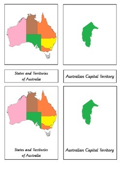 States of Australia 3 Part Cards