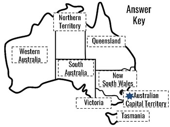 States of Australia: A cut and paste activity