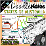 States of Australia Doodle Notes