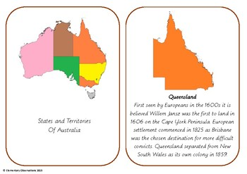 States of Australia History Cards
