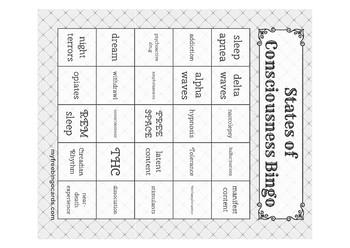 States of Consciousness Bingo