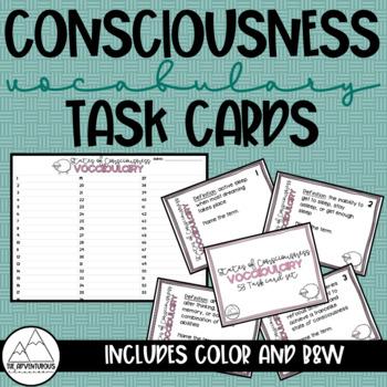 Psychology: States of Consciousness Vocabulary Task Cards