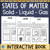States of Matter Activity - Solid Liquid Gas - Interactive Science Book