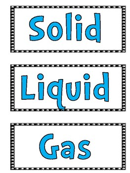 States of Matter - 24 Photo cards for Sorting or Quiz, Quiz, Trade - FREEBIE!