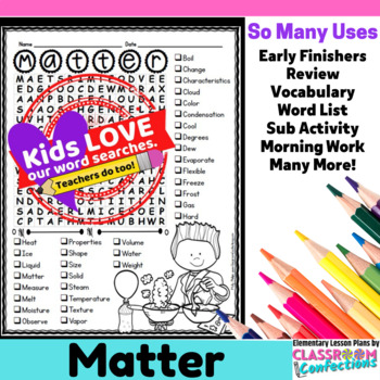States of Matter Activity: States of Matter Word Search: Vocabulary