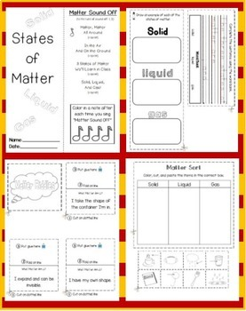 States of Matter (Lapbook or Science Journal)