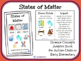 States of Matter- A Science Concept Adapted Book for Autism Units or Early Elem