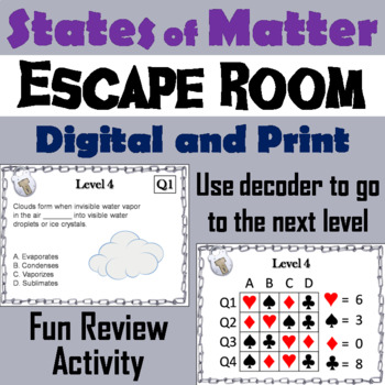 States of Matter Activity: Escape Room - Science