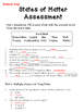 States of Matter Assessment (With Answer Key!)