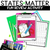 States of Matter Back to School Color by Number Review Activity