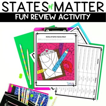 States of Matter Back to School Review Activity