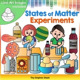 States of Matter Balloon and Root Beer Experiment Clip Art